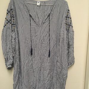 Blue and white striped dress Old Navy size XXL